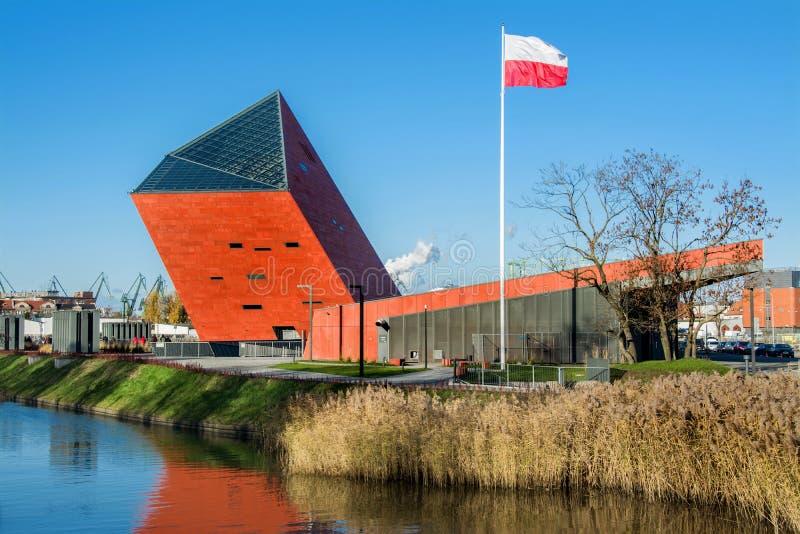 Costruzione del Museo della Seconda Guerra Mondiale a Danzica, Polonia fotografie stock libere da diritti