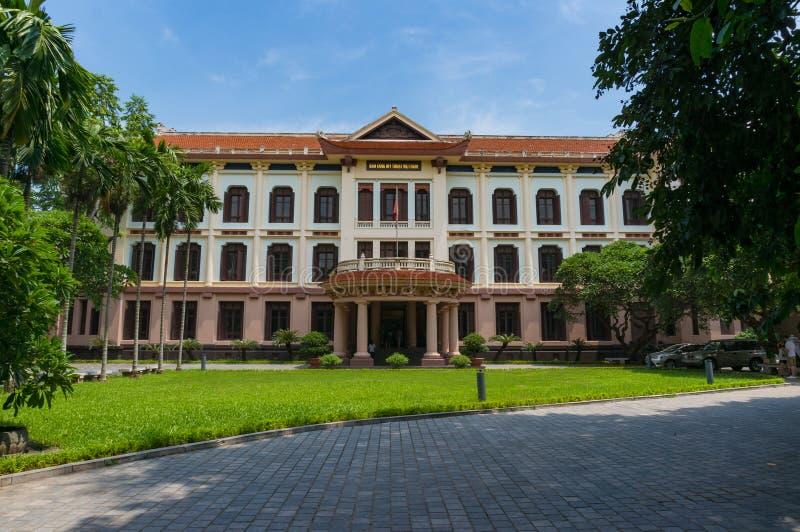 Costruzione del museo di belle arti del Vietnam fotografia stock