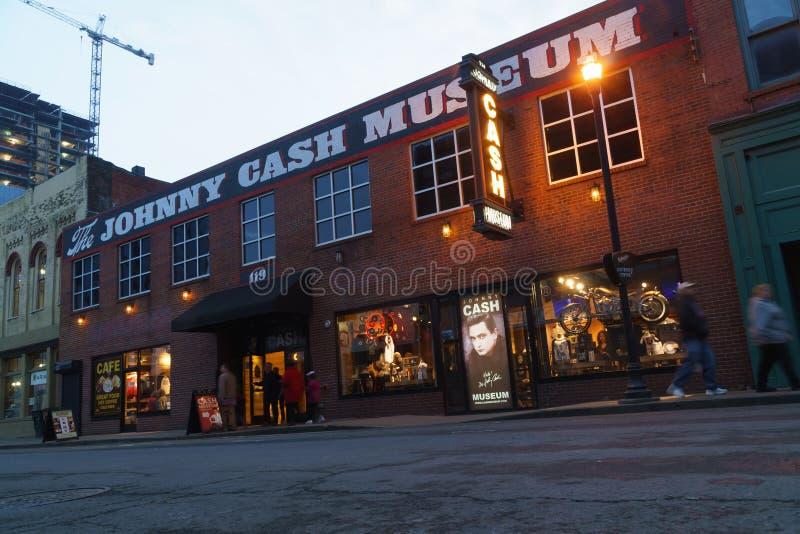 Costruzione del museo di Johnny Cash a Nashville del centro, TN fotografia stock