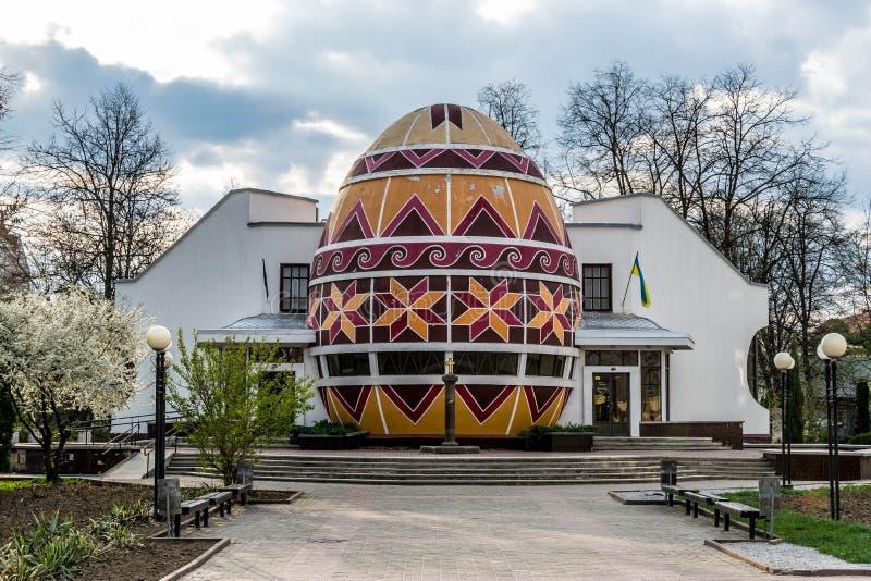Costruzione del museo di Pysanka - uovo di Pasqua ucraino immagini stock libere da diritti