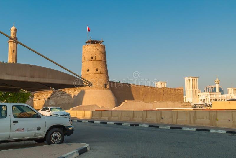 Costruzione del museo del Dubai fotografie stock