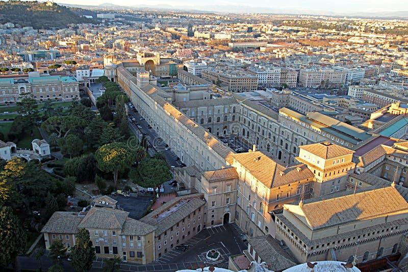 Costruzione del museo del Vaticano immagini stock libere da diritti