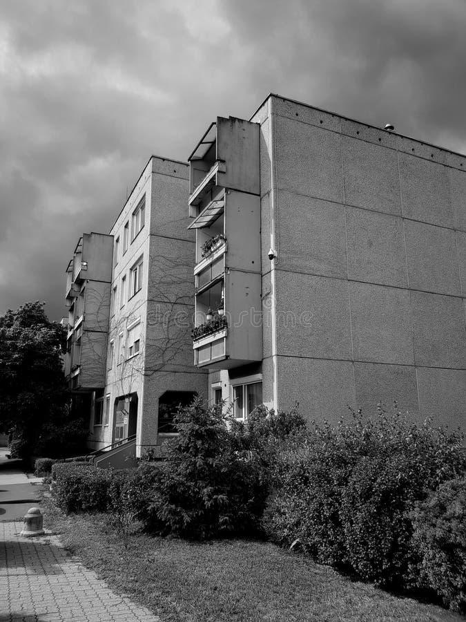 Costruzione del pannello a Budapest fotografie stock