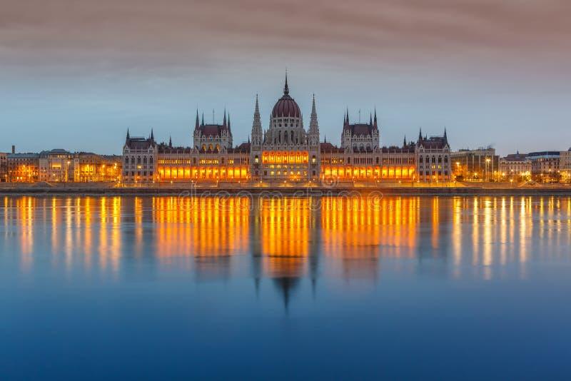 Costruzione del Parlamento, Budapest fotografia stock