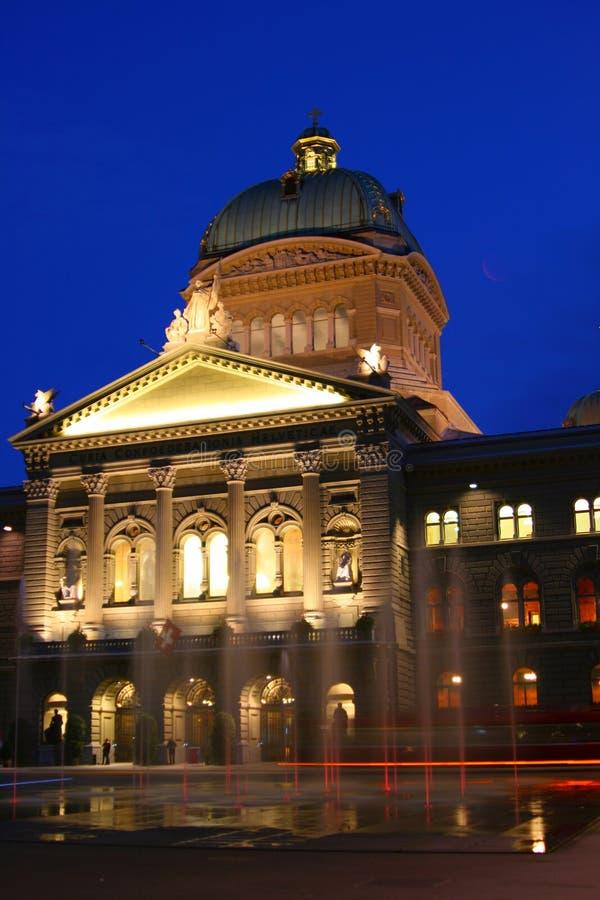 Costruzione del Parlamento da Berna fotografia stock