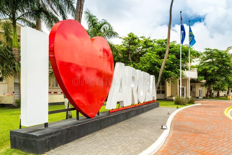 Costruzione del Parlamento di Aruban, in Oranjestad fotografia stock libera da diritti