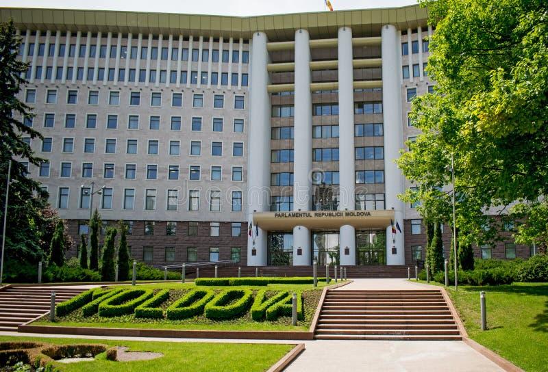 Costruzione del Parlamento nella Repubblica di Moldavia chisinau immagine stock libera da diritti