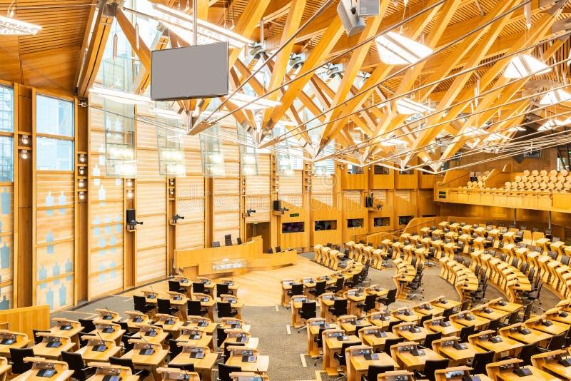Costruzione del Parlamento scozzese immagini stock
