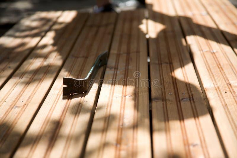 Costruzione del patio immagine stock