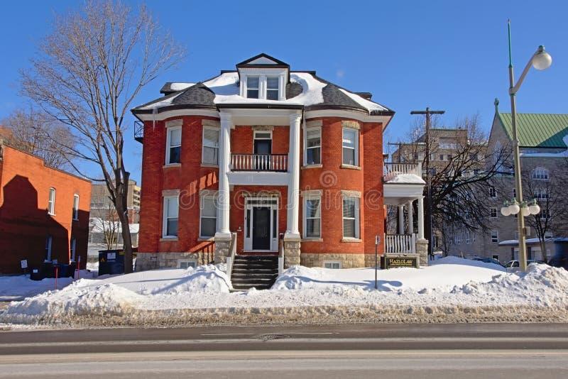 Costruzione del residentail della pietra del mattone in Ottawa, Canada immagine stock libera da diritti
