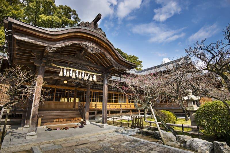 Costruzione del santuario del giapponese fotografia stock libera da diritti