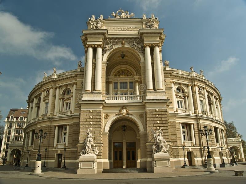 Costruzione del teatro di opera a Odessa Ucraina fotografie stock