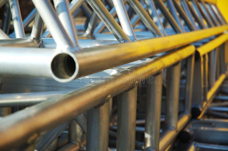 Costruzione del tubo di Alluminium fotografie stock libere da diritti