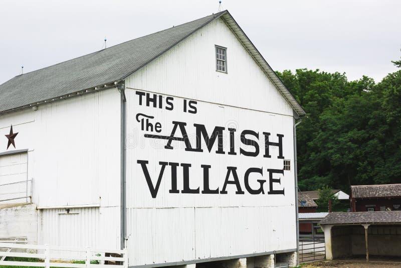 Costruzione del villaggio di Amish fotografia stock libera da diritti