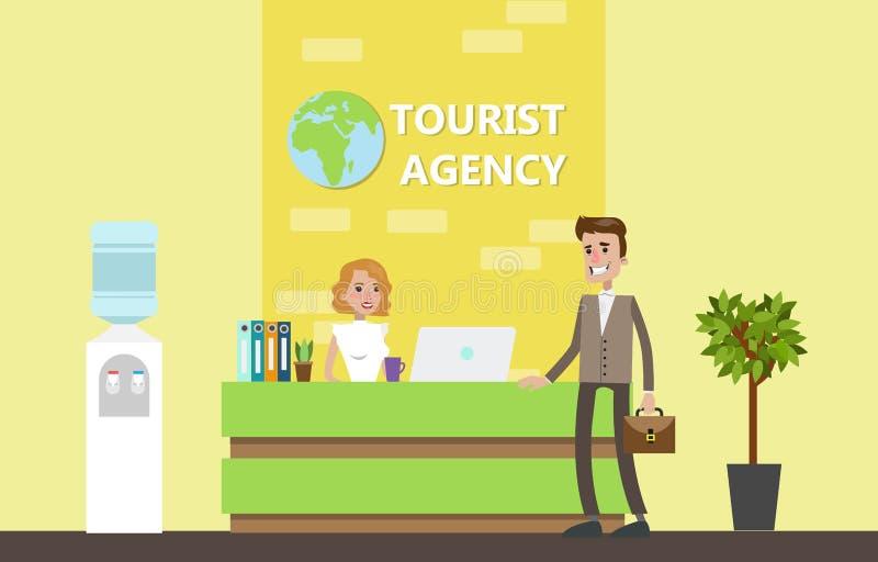 Costruzione dell'agenzia di viaggi royalty illustrazione gratis