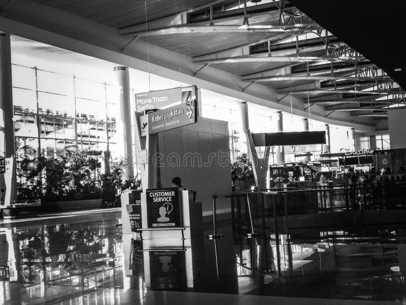 COSTRUZIONE DELL'AIRPORT EASTBORNEO DEL SULTANO AJI MAOMETTO SULAIMAN fotografia stock libera da diritti