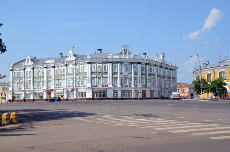 Costruzione dell'amministrazione di Vologda, Russia immagine stock libera da diritti