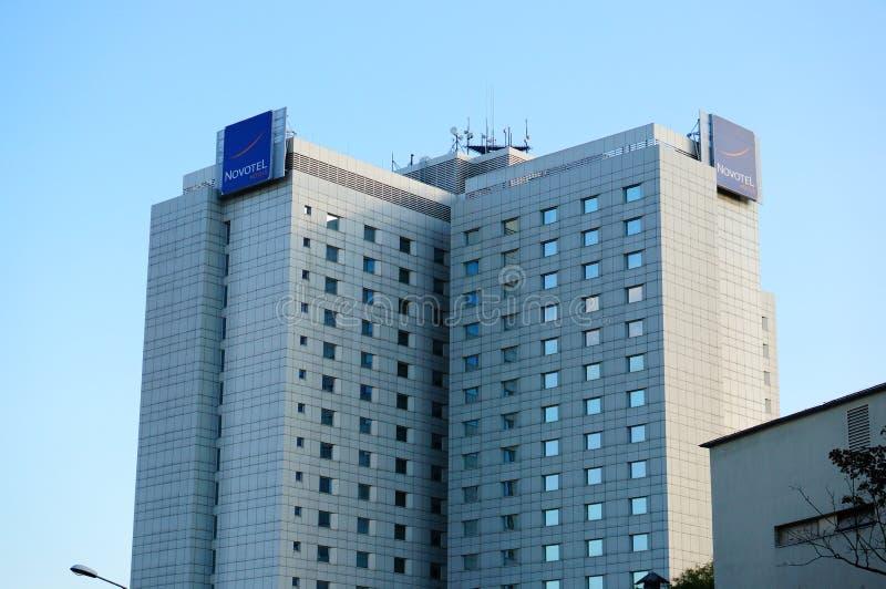 Costruzione dell'hotel fotografia stock