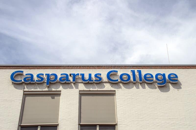Costruzione dell'istituto universitario di Casparus a Weesp i Paesi Bassi fotografia stock libera da diritti