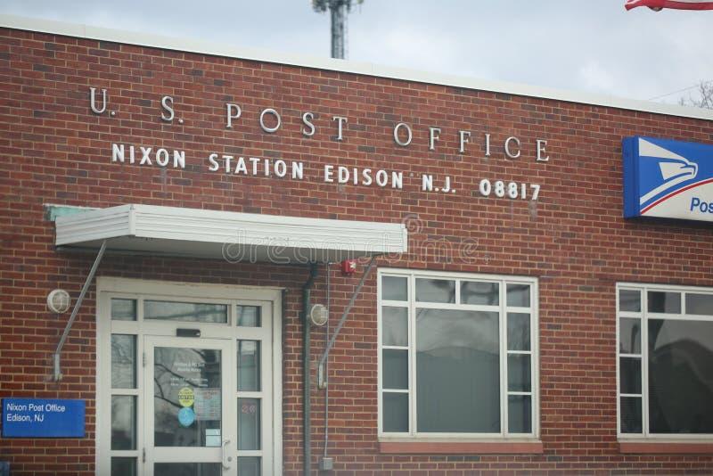 Costruzione dell'ufficio postale degli Stati Uniti fotografia stock libera da diritti
