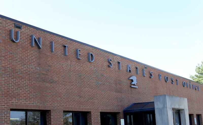 Costruzione dell'ufficio postale degli Stati Uniti fotografie stock