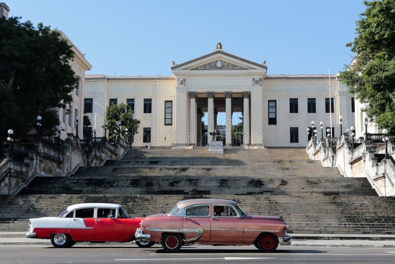 Costruzione dell'università a Avana fotografie stock