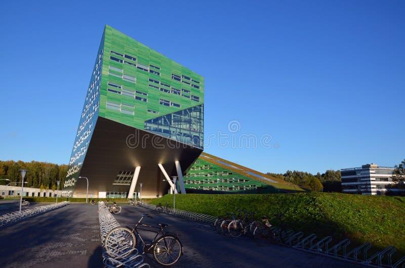 Costruzione dell'università a Groningen fotografie stock