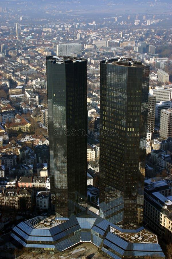 Costruzione della Banca a Francoforte fotografia stock libera da diritti