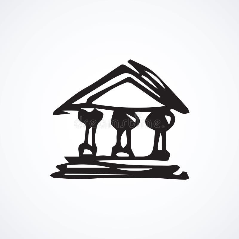 Costruzione della Banca Innesta l'icona illustrazione vettoriale