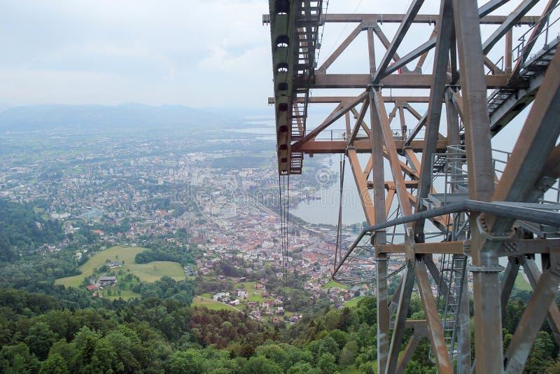 Costruzione della cabina di funivia in Bregenz, Austria immagini stock