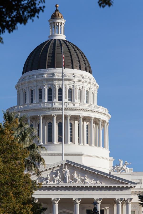 Costruzione della Camera e del Campidoglio dello stato di California, Sacramento immagine stock libera da diritti