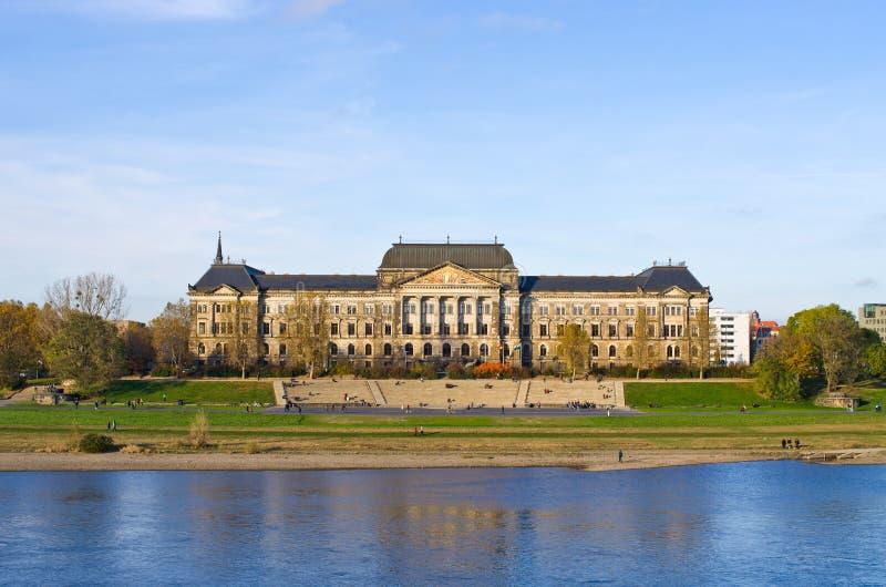 Costruzione della cancelleria dello stato di Saxon - Dresda, Germania fotografie stock