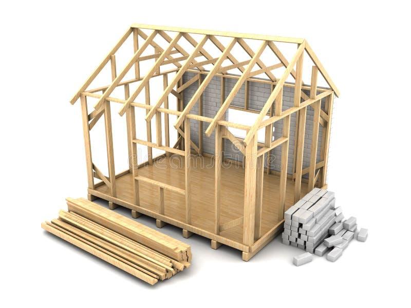 Costruzione della casa di legno royalty illustrazione gratis