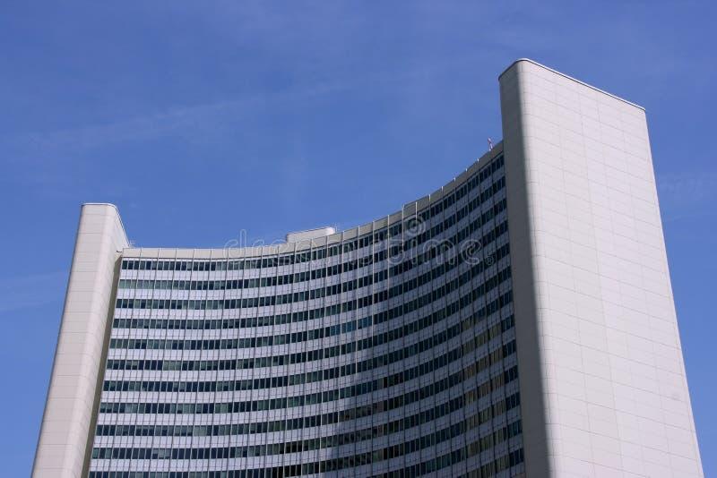 Costruzione della città di ONU a Vienna immagine stock