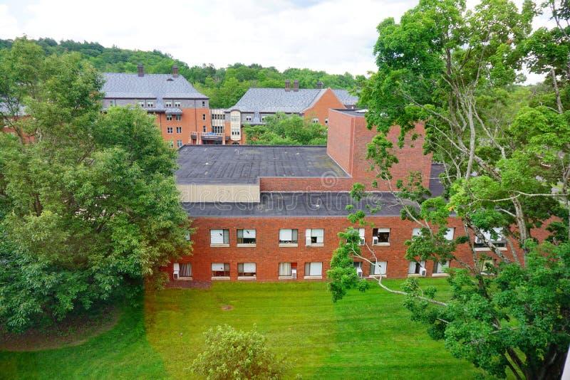 Costruzione della città universitaria dell'istituto universitario di Mt Holyoke immagine stock libera da diritti