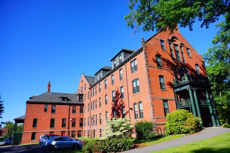 Costruzione della città universitaria dell'istituto universitario di Mt Holyoke fotografia stock libera da diritti