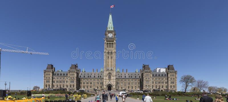 Costruzione della collina del Parlamento in Ottawa, Canada fotografia stock libera da diritti