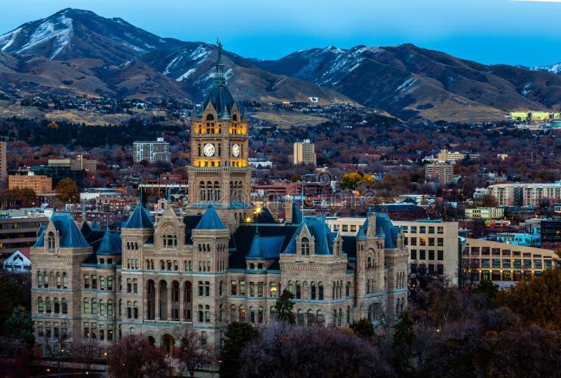 Costruzione della contea e di Salt Lake City fotografia stock libera da diritti