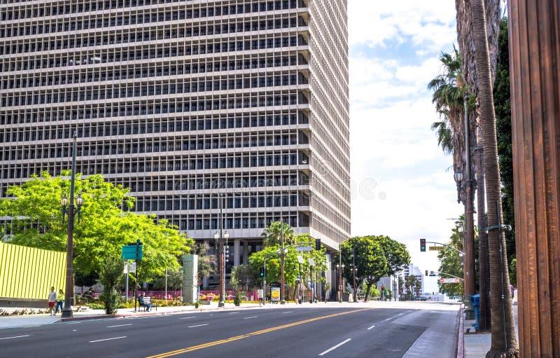 Costruzione della corte federale a Los Angeles, California, U.S.A. fotografie stock libere da diritti