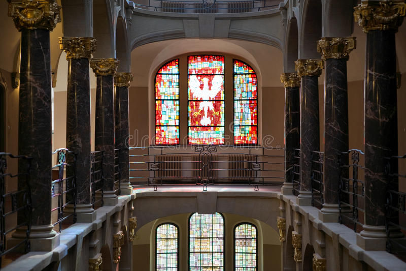 Costruzione della corte a Poznan sulla via di Mlynska fotografie stock