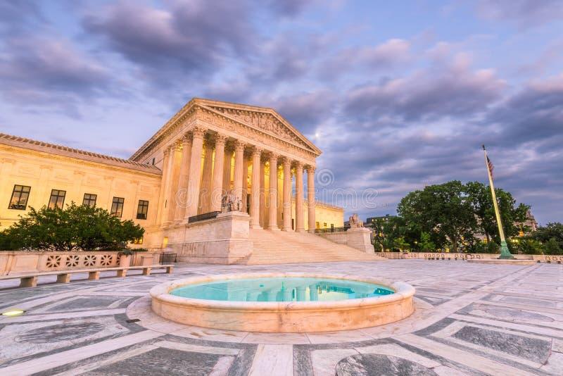 Costruzione della Corte suprema degli Stati Uniti in Washington, DC, U.S.A. fotografia stock