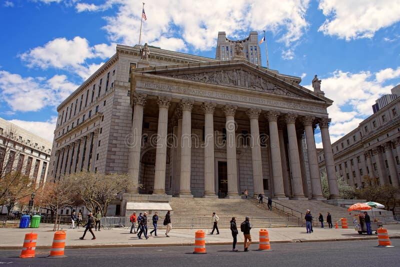 Costruzione della corte suprema dello stato di New York fotografie stock