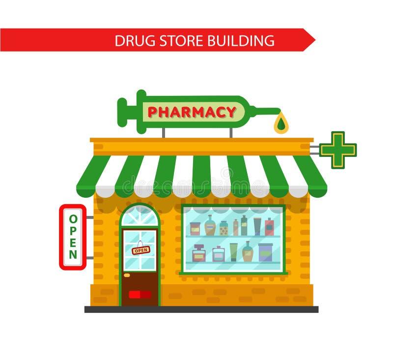 Costruzione della farmacia fotografia stock