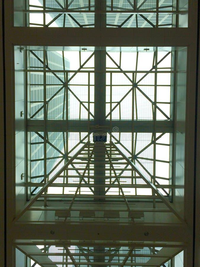 Costruzione della finestra del soffitto immagine stock