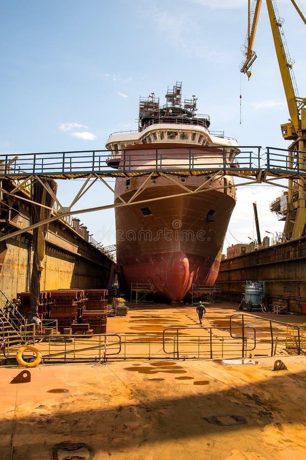 Costruzione della nave fotografie stock libere da diritti