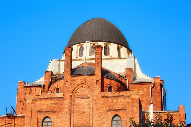 Costruzione della sinagoga a Kharkiv, Ucraina immagini stock