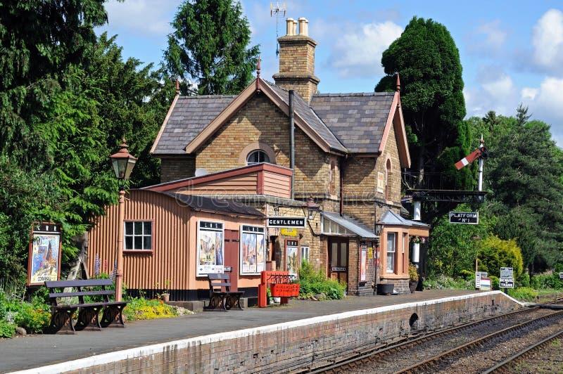 Costruzione della stazione ferroviaria, Hampton Loade fotografia stock