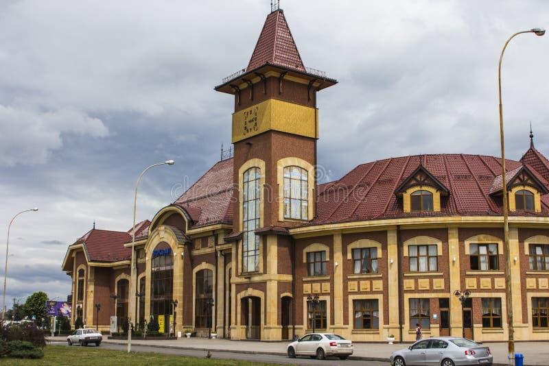 Costruzione della stazione ferroviaria in Uzhgorod l'ucraina fotografia stock libera da diritti