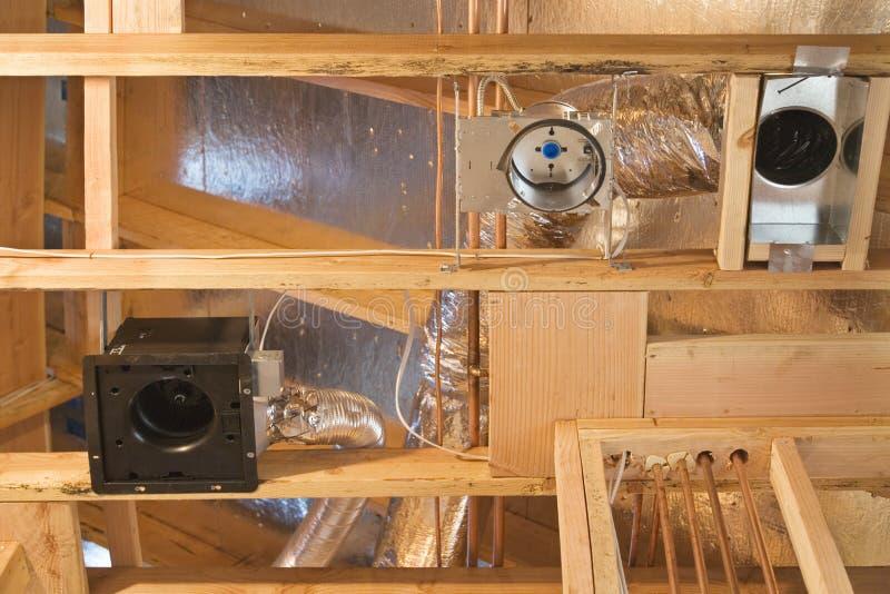 Costruzione dello sfiato di HVAC fotografie stock libere da diritti