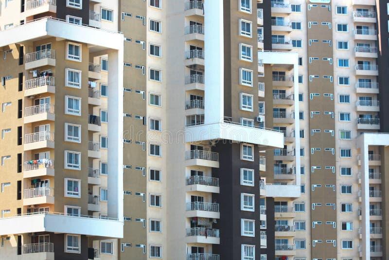 Costruzione di appartamento alta fotografia stock libera da diritti